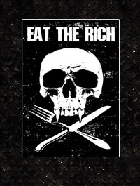Sticker:  Eat the rich - 10 Stück