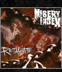 MISERY INDEX - Retaliate, LP + EP, Grün/Schwarz