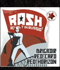 RASH REVOLT IN RUSSIA - RED CARD/ BRIGADIR/ RED HORIZON, CD