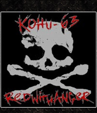 KOHU 63/ Red With Anger  SPLIT-LP/12