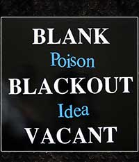 Poison Idea - Blank, Blackout, Vacant, LP/12