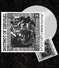 INSTINCT OF SURVIVAL / ASOCIAL TERROR FABRICATION, Split-LP Weiß