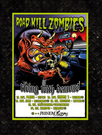 Road Kill Zombies - Tourposter A1