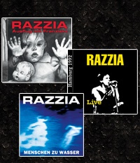 RAZZIA - 3er CD-PAKET - �ber 150 Minuten, 42 Tracks + 5 Videos